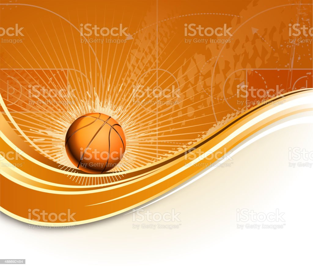 basketball planning wave vector art illustration
