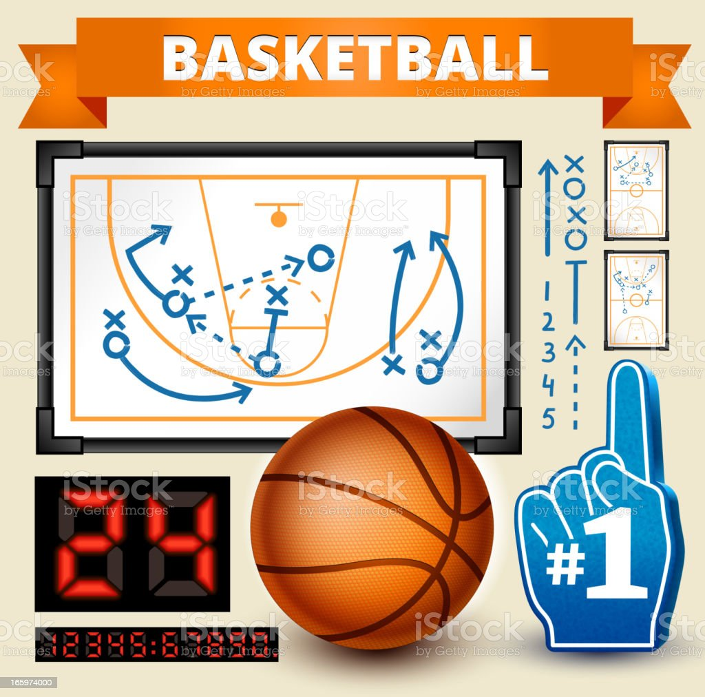 Basketball Play royalty free vector Design Elements royalty-free stock vector art