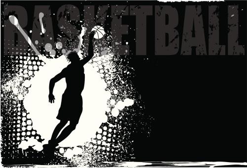 Basketball Player Grunge Background