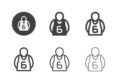Basketball Player Icons - Multi Series