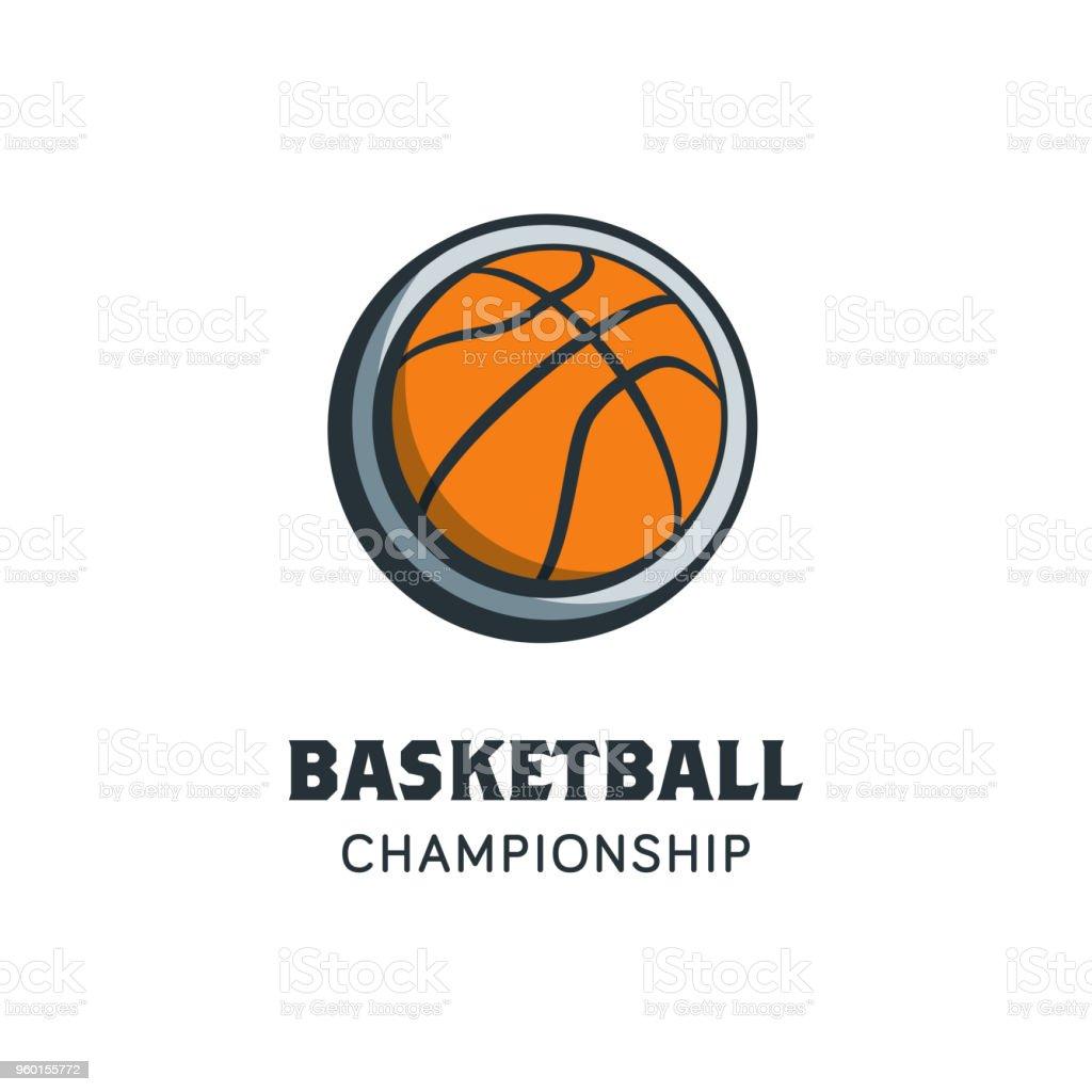 Basketball Player Logo Template. Creative Sport Game Vector...