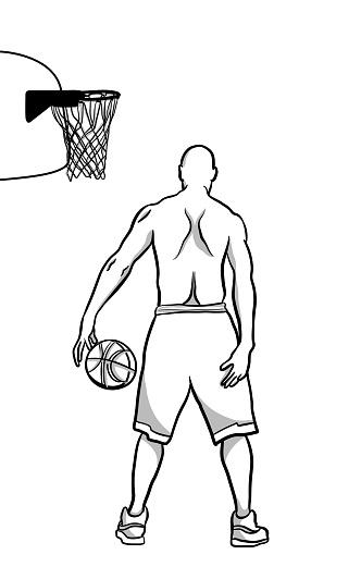 Basketball player Outdoor Court