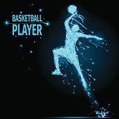 Basketball player polygonal