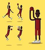 Basketball player set.