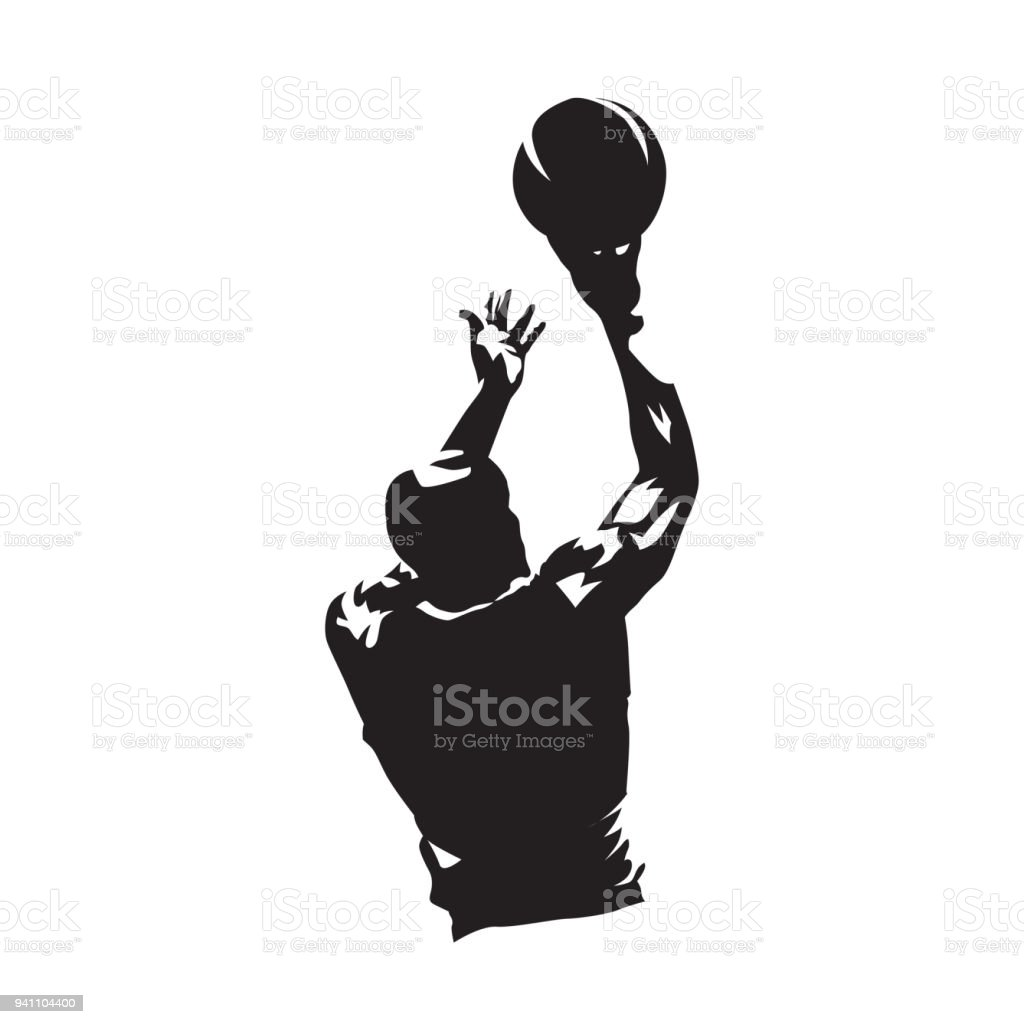 Basketball Fitness Silhouette Wall Clock