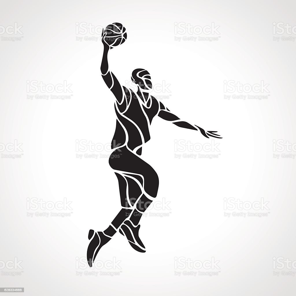 Slam Dunk Silhouette royalty-free basketball player slam dunk silhouette  stock vector 0adf55d3b2