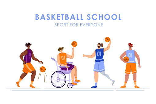 basketball player sport concept