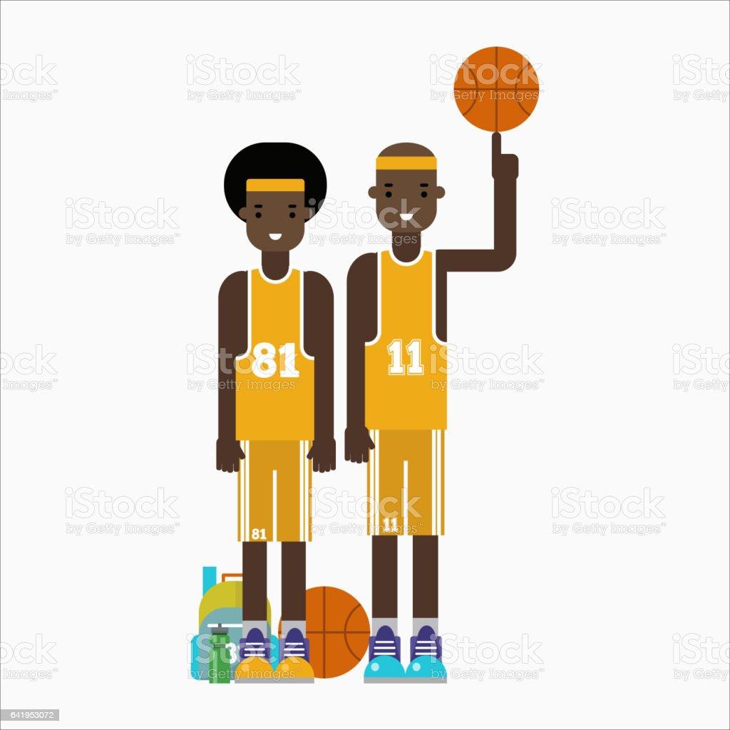Basketball player team character vector vector art illustration