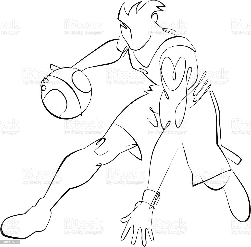 Basketball Player royalty-free stock vector art