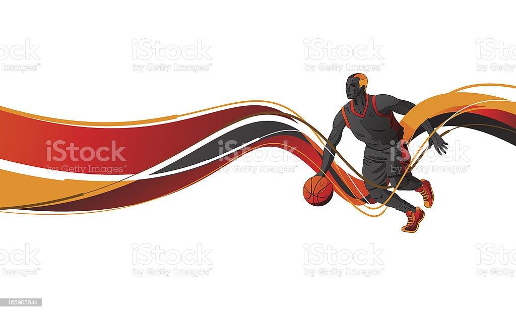 Jugador de baloncesto - ilustración de arte vectorial