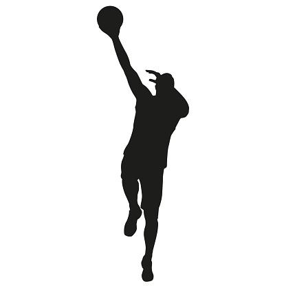 Basketball player vector silhouette
