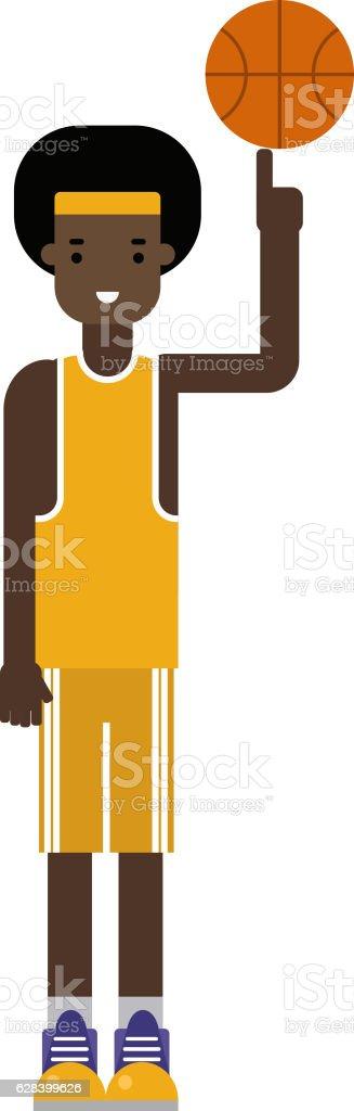 Basketball player vector. vector art illustration