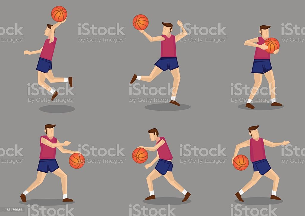 Basketball player with Basketball Vector Illustration vector art illustration