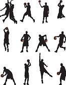 Illustration of Basketball Players.