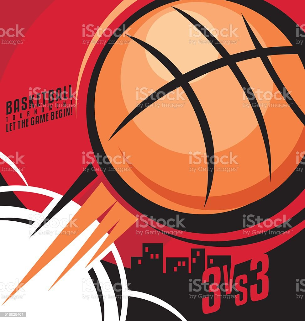 Basketball poster design. Creative concept for invitation card, flyer...