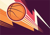 Basketball poster with colorful abstraction. Vector illustration.