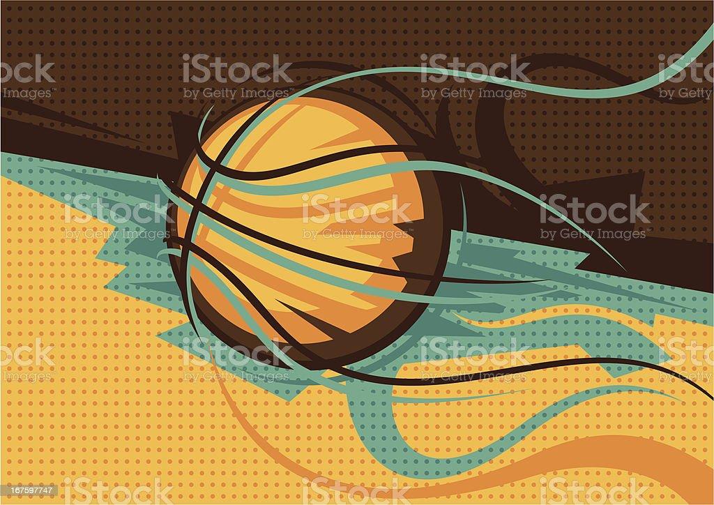 Basketball poster. royalty-free stock vector art