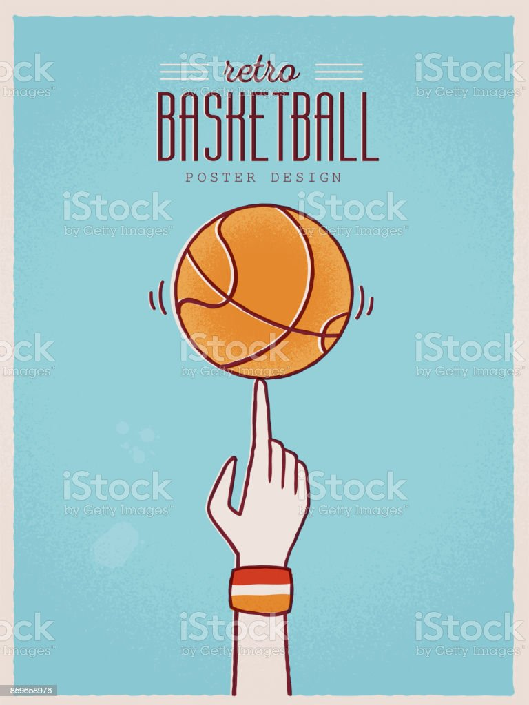 Basketball Poster vector art illustration