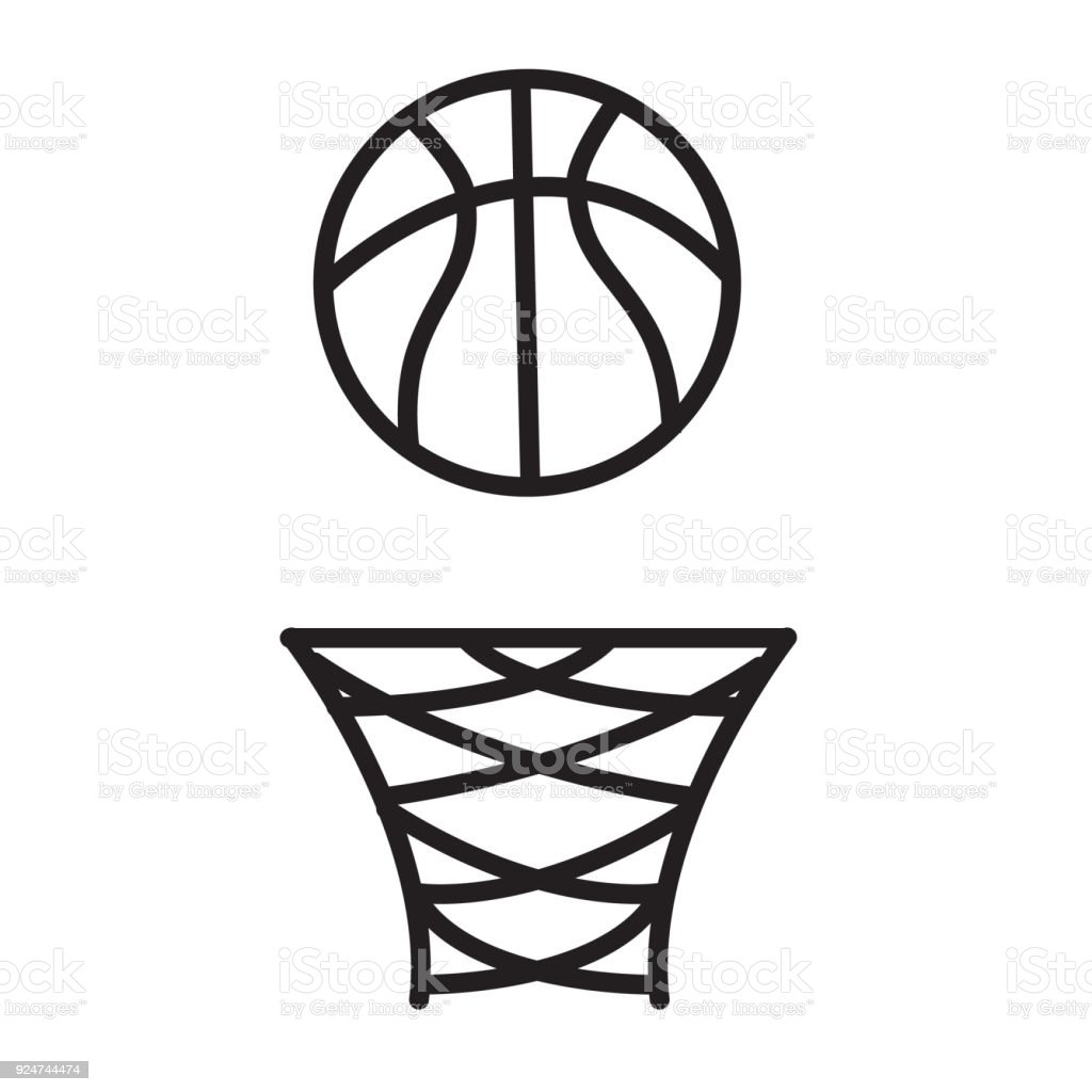 basketball rim icon on white background. basketball rim sign. flat style. vector art illustration