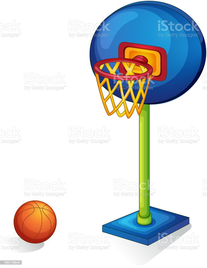 Basketball ring and ball royalty-free stock vector art