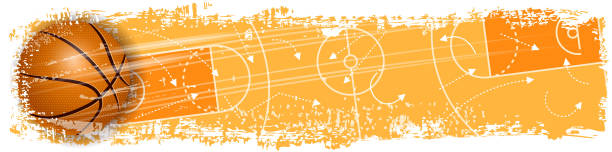 basketball scoring banner Drawn of vector blank basketball banner. This file of transparent and created by illustrator CS6. basketball stock illustrations