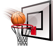 drawn of vector basketball hoop.This file has been used illustrator cs3 EPS10 version feature of multiply.