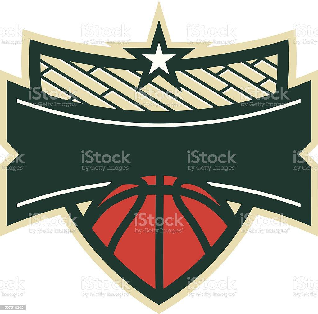 Basketball Shield Logo royalty-free basketball shield logo stock vector art & more images of banner - sign