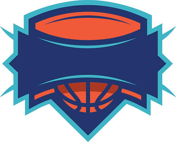 Basketball Shield vector art illustration