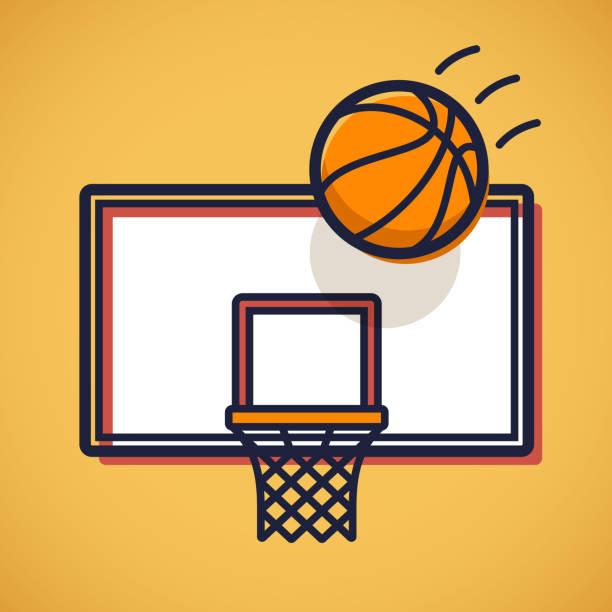 ilustraciones, imágenes clip art, dibujos animados e iconos de stock de foto de baloncesto - basketball hoop
