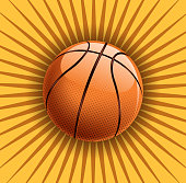 drawn of vector basketball sign.This file has been used illustrator CS3 EPS10 version feature of multiply.