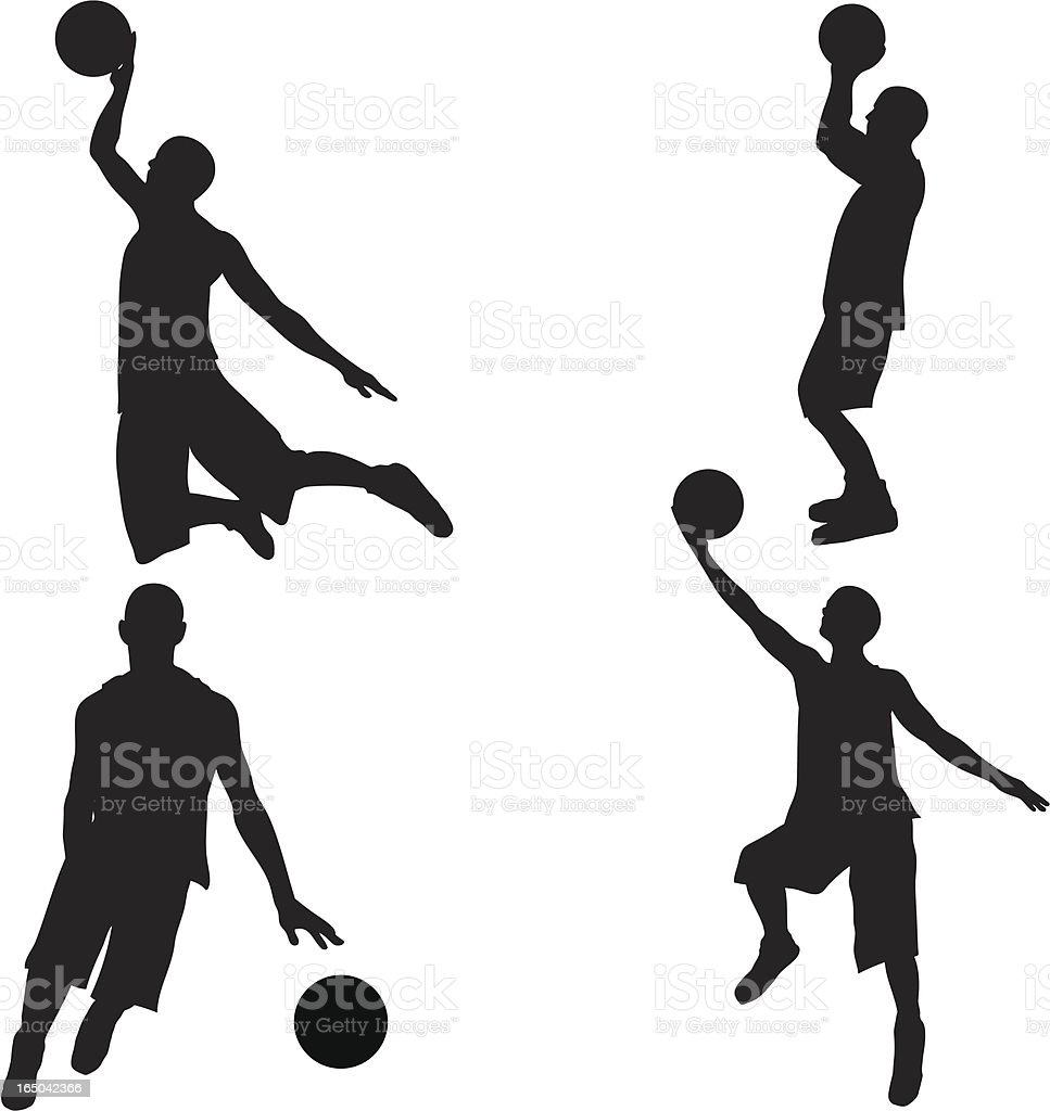 Basketball Silhouette Collection (vector+jpg) vector art illustration