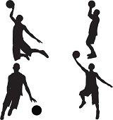 Basketball Silhouette Collection (vector+jpg)