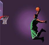 Basketball Slam Dunk Player