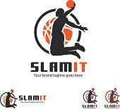 Basketball Slam Dunk Symbol
