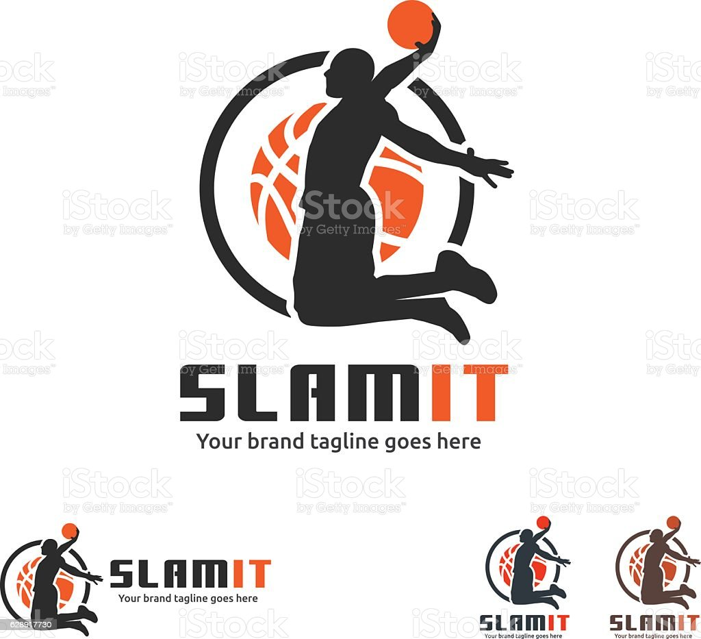 Basketball Slam Dunk Symbol vector art illustration