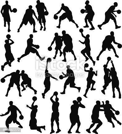 istock Basketball, Sport, Athlete, Silhouette 464692272
