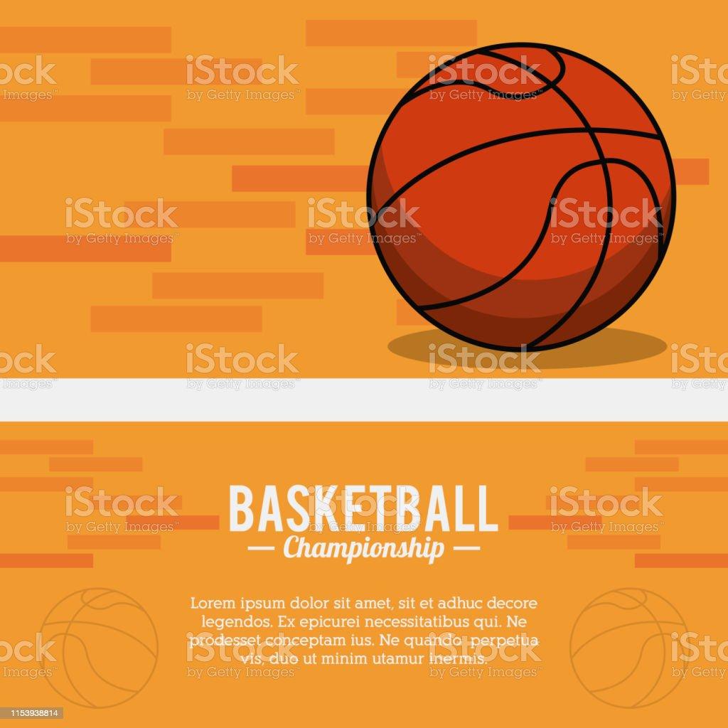 basketball sport ball championship poster vector illustration eps 10