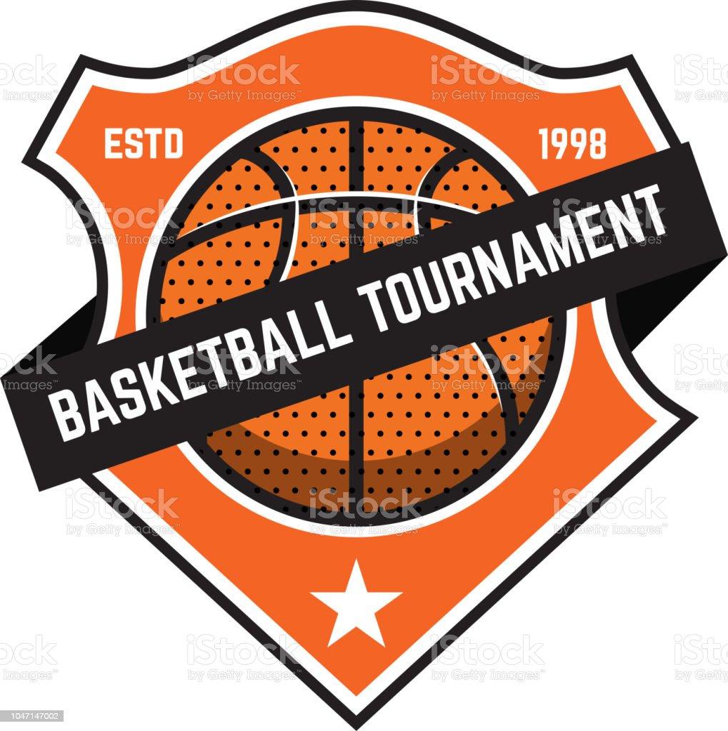Basketball sport emblems. Design element for poster, label, emblem,...