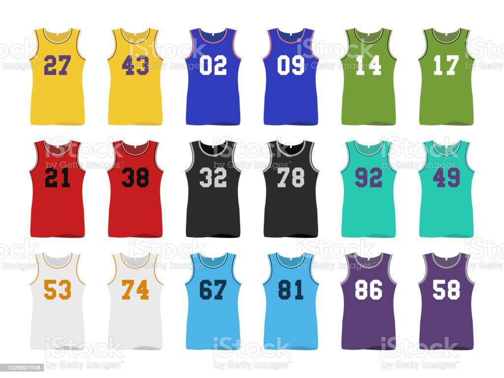 basketball Sport Jerseys vector art illustration