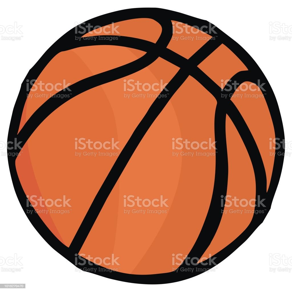 Basketball, vector illustration. Colored sketch of ball. Simple...