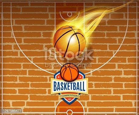 istock basketball sports sign 1297585477