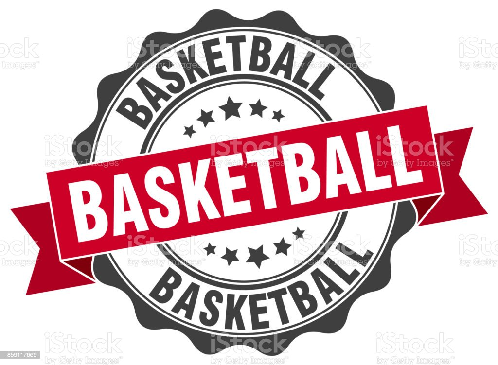basketball stamp. sign. seal vector art illustration