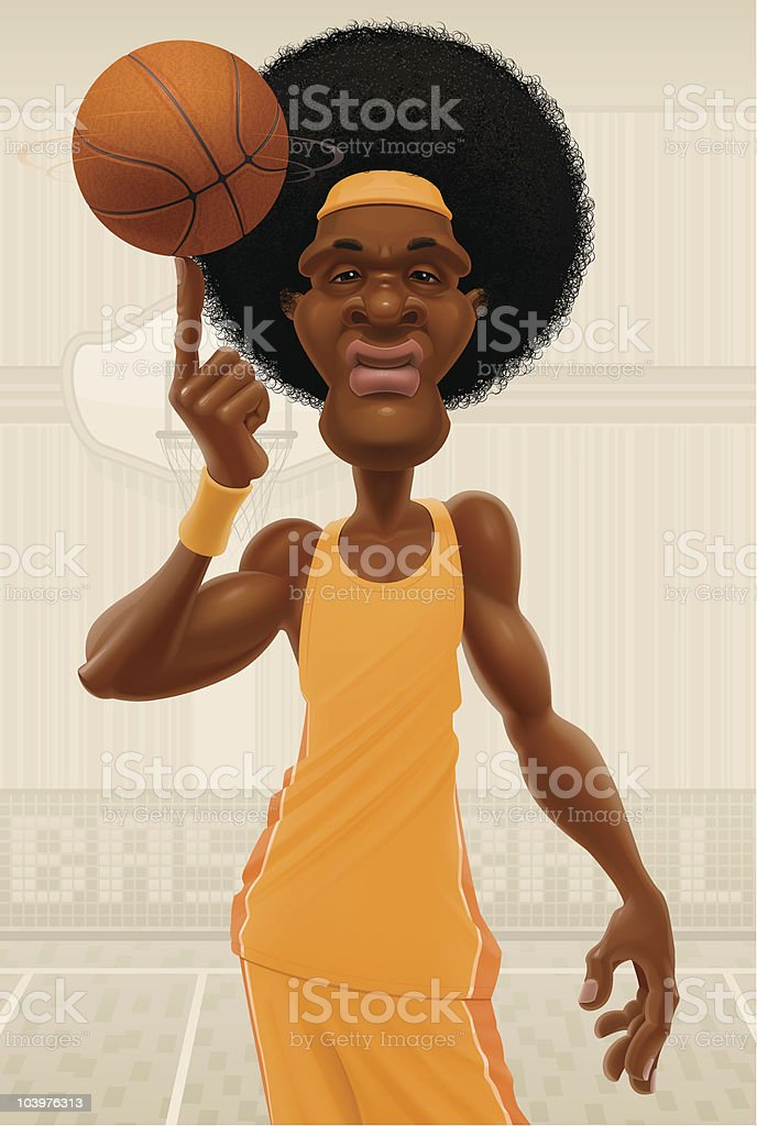 Basketball superstar vector art illustration