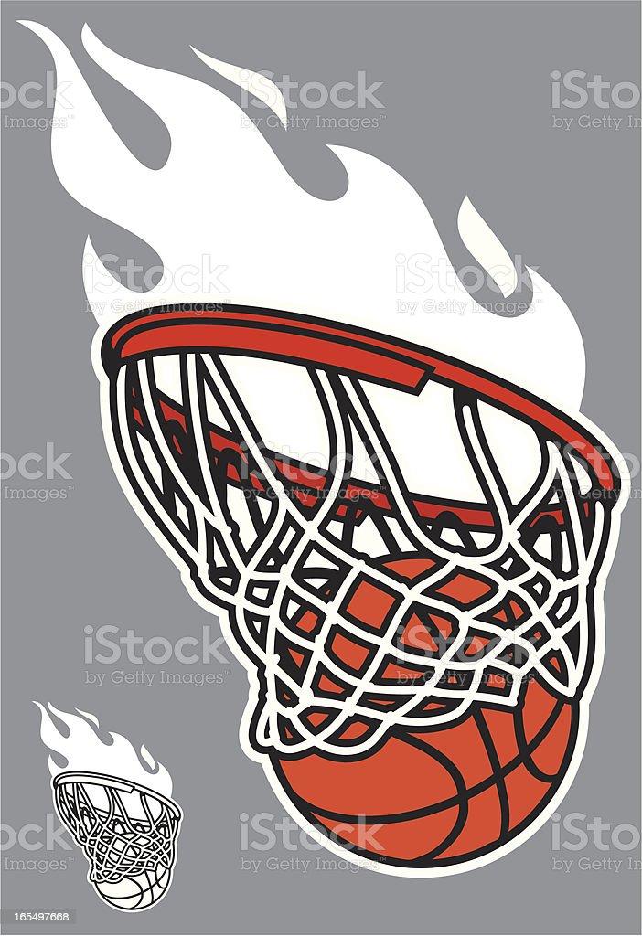 basketball swoosh vector art illustration