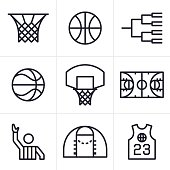 Basketball Symbols and Icons