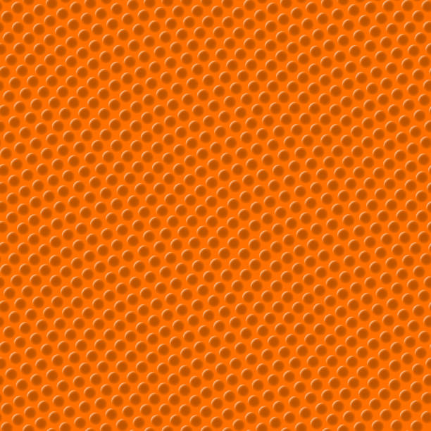 Basketball texture seamless pattern vector art illustration