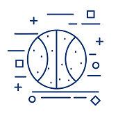 Basketball Thin Line Education Icon