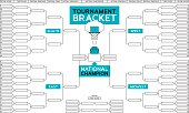 Basketball tournamnet bracket background with ball and basketball hoop and space for your copy.