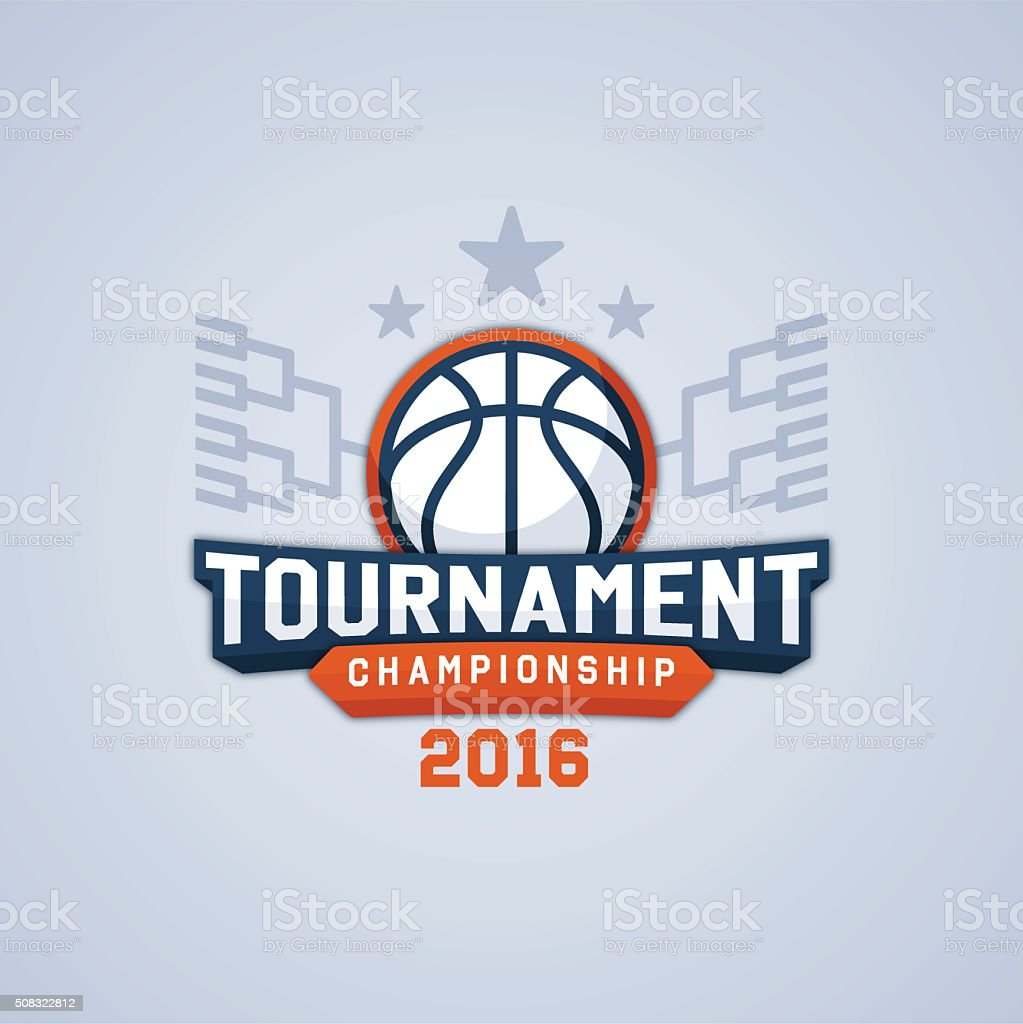Tournoi de basket de haut niveau - Illustration vectorielle