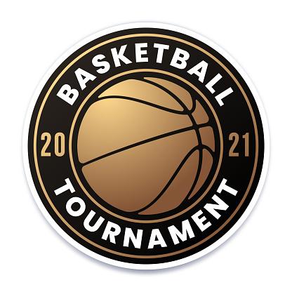 Basketball Tournament Gold Badge